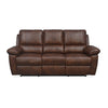 Marshal 3 Seater Manual Recliner (Brown)