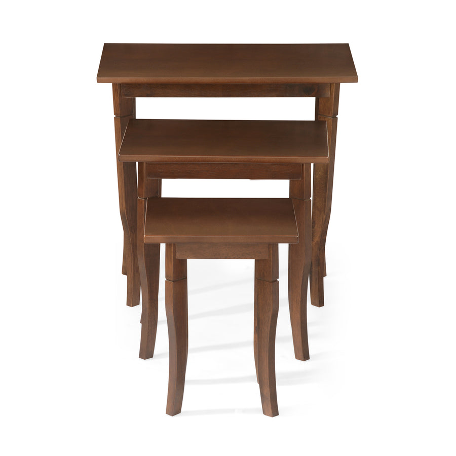 Mason Nesting Table Set Of 3 (Cappuccino)