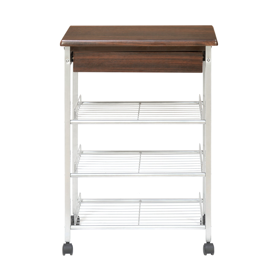 Mayon 4 Tier Kitchen Storage Trolley (Silver)