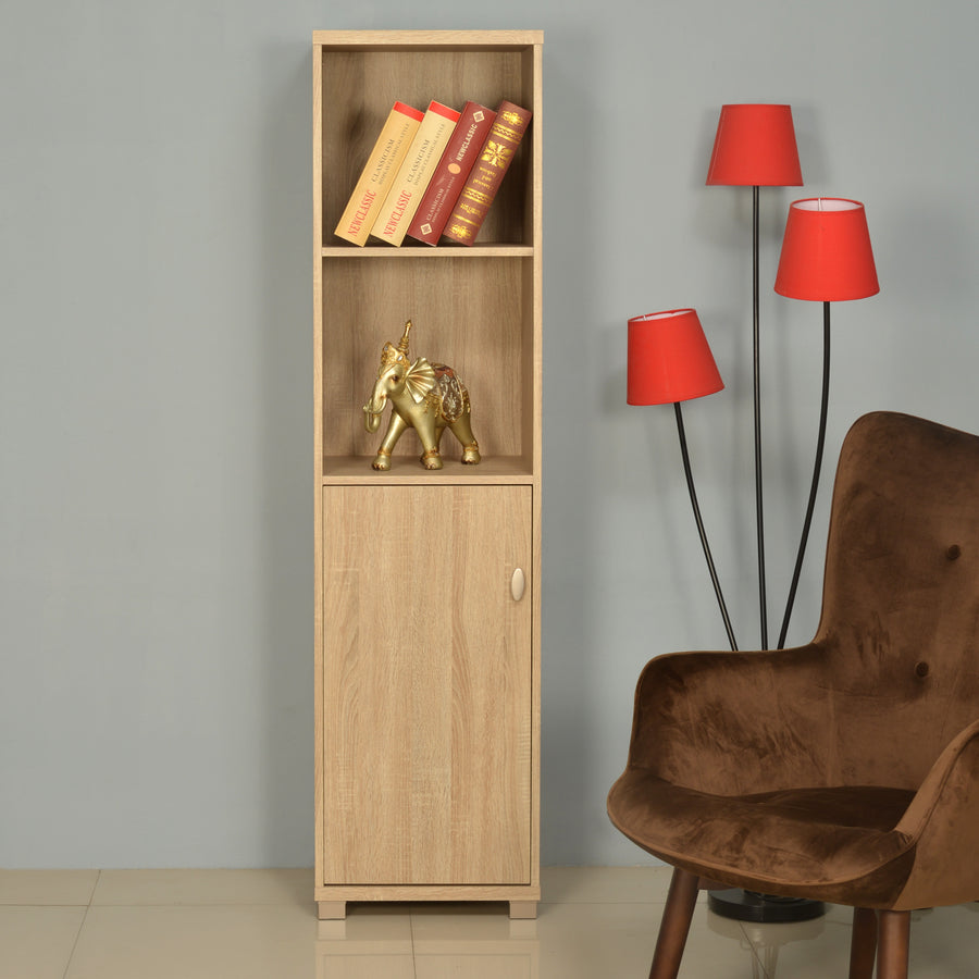 Merit 1 Door Big Library Cabinet (Walnut)