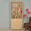 Merit 2 Door Big Library Cabinet (Walnut)