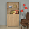 Merit 2 Door Medium Library Cabinet (Walnut)