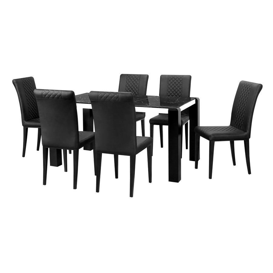 Mickle 6 Seater Dining Set (Black)