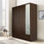 Mozart 4 Door Mirror Wardrobe (Walnut)
