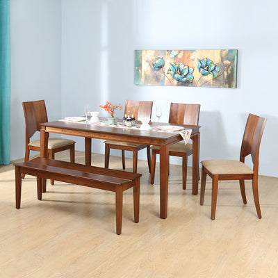 Montie 1+4+ Bench Dining Kit (Walnut)