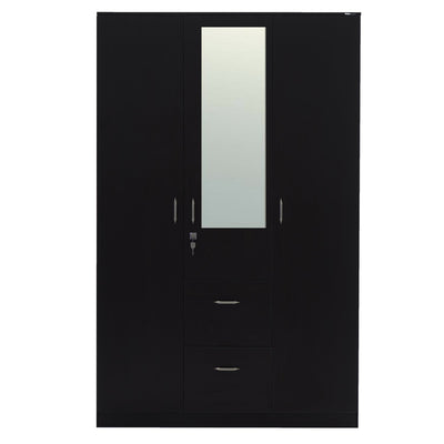 Mozart 3 Door Wardrobe with Mirror (Wenge)