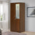 Riva 2 Door Mirror Wardrobe (Walnut)