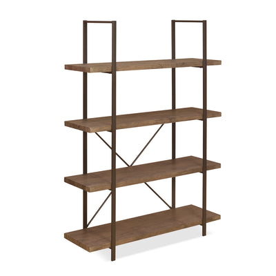 Norton 4 Tier Bookshelf (Oak)