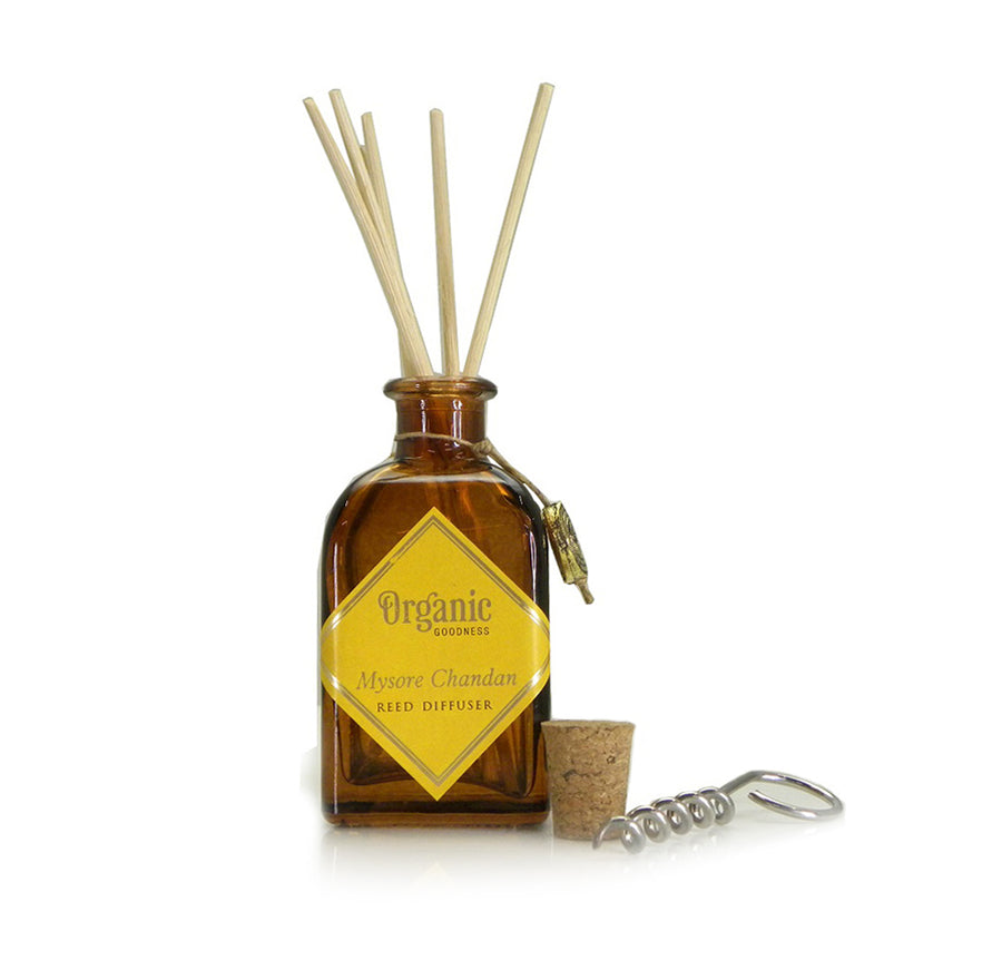 Song of India 100 ml Mysore Chandan Organic Reed Diffuser Glass Jar