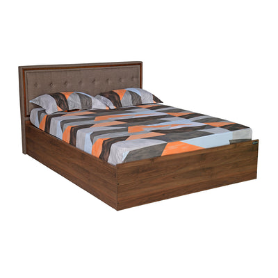Packard King Bed with Box Storage (Walnut)