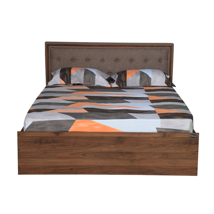 Packard Queen Bed with Box Storage (Walnut)
