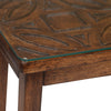Paisley Console Table (Honey Walnut)