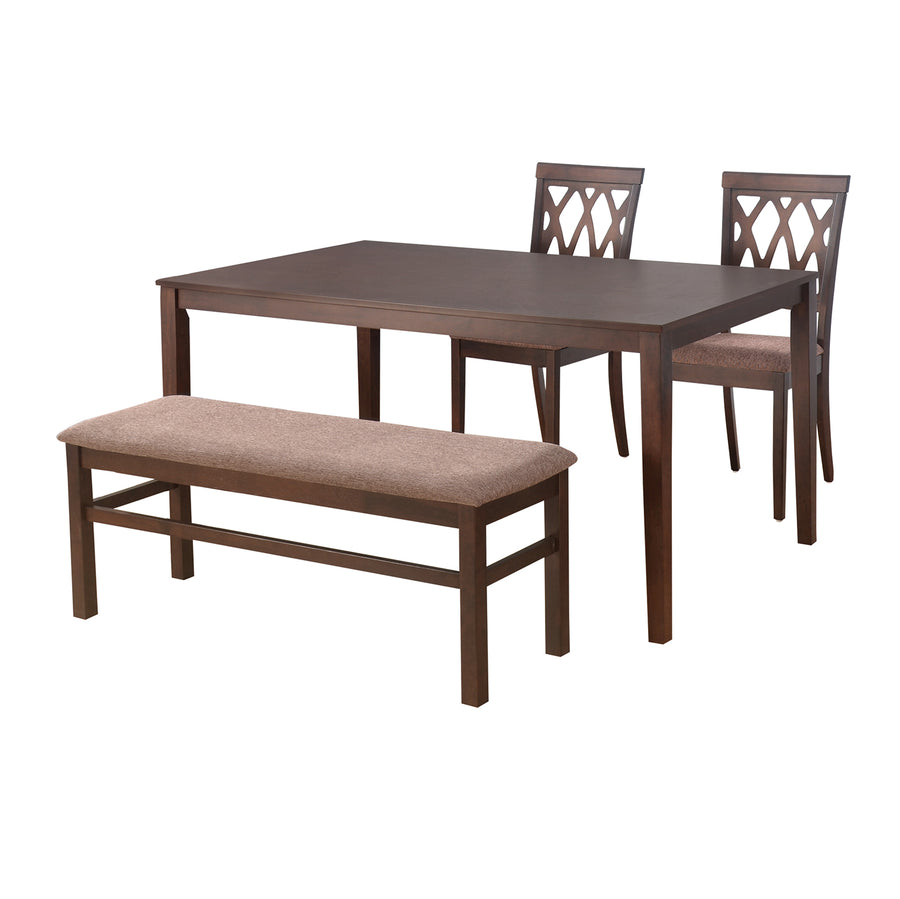 Peak 1 + 2 + Bench Dining Set (Cappucino)
