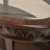 Pisces Center Table With Glass Top (Classic Walnut)