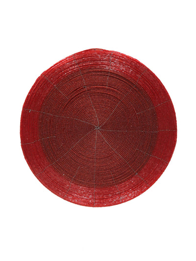 Bead Diameter 30 cm Placemat (Red)