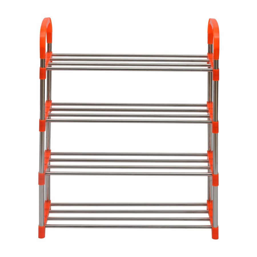 Proxima 4 Layer Iron Shoe Rack (Orange)