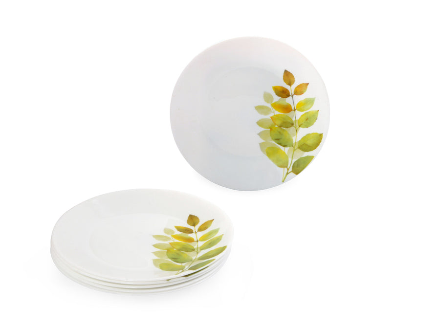 Laopala Autumn Shadow Opalware Quarter Plate Set of 3 (Ivory)