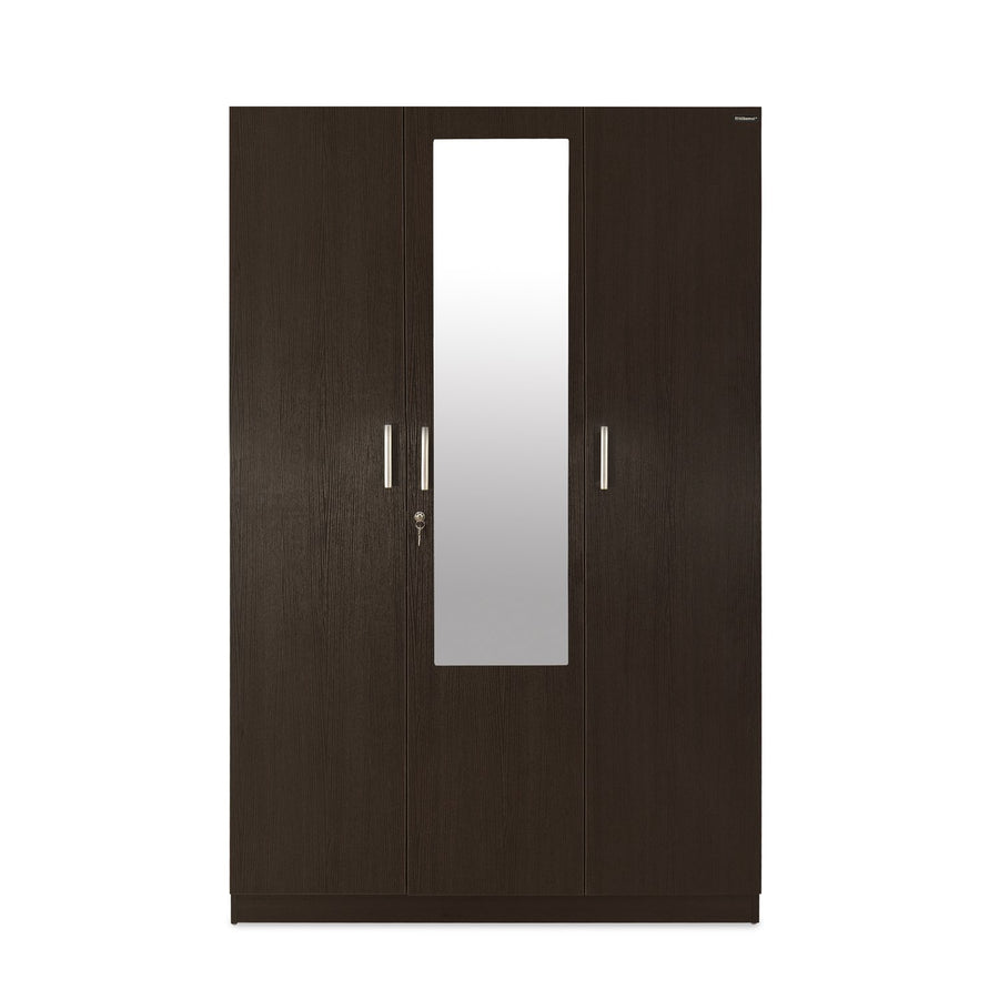 Reegan 3 Door Wardrobe with Mirror (Wenge)
