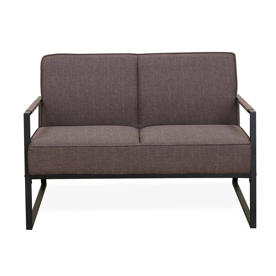 Remus 2 Seater Sofa (Dark Brown)