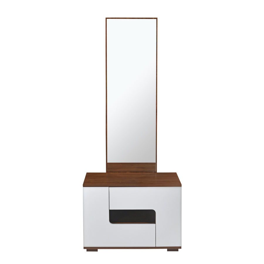 Rubix Dresser (White & Walnut)