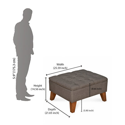 Sayer Ottoman With Out Storage (Brown)