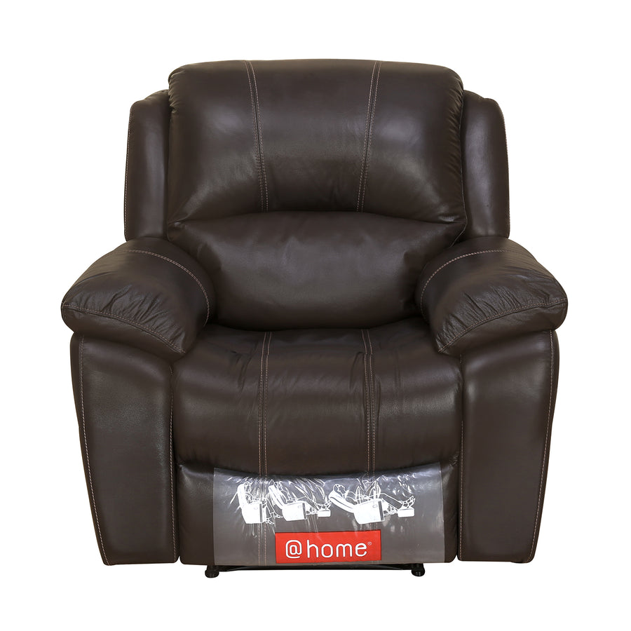 Scott 1 Seater Manual Recliner (Dark Brown)