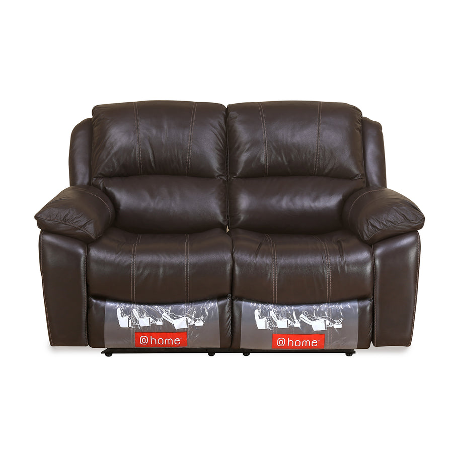 Scott 2 Seater Manual Recliner (Dark Brown)