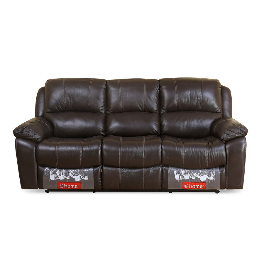 Scott 3 Seater Manual Recliner (Dark Brown)