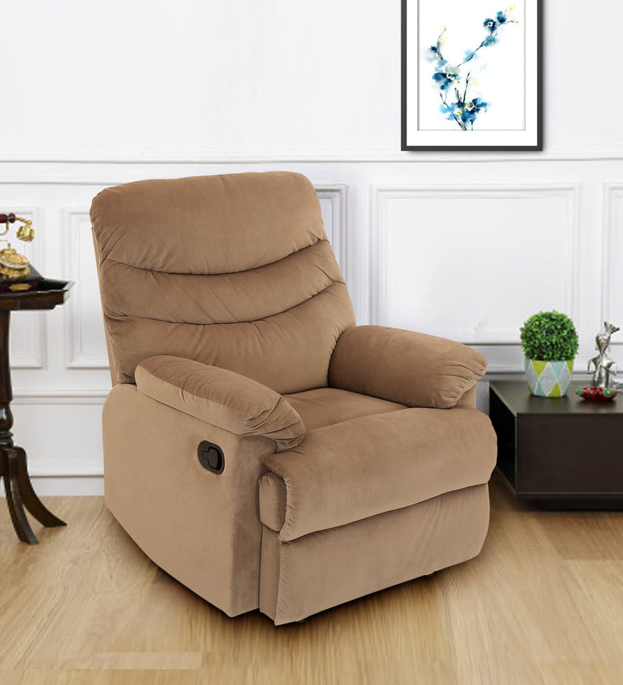 Skelton 1 Seater Manual Recliner (Brown)