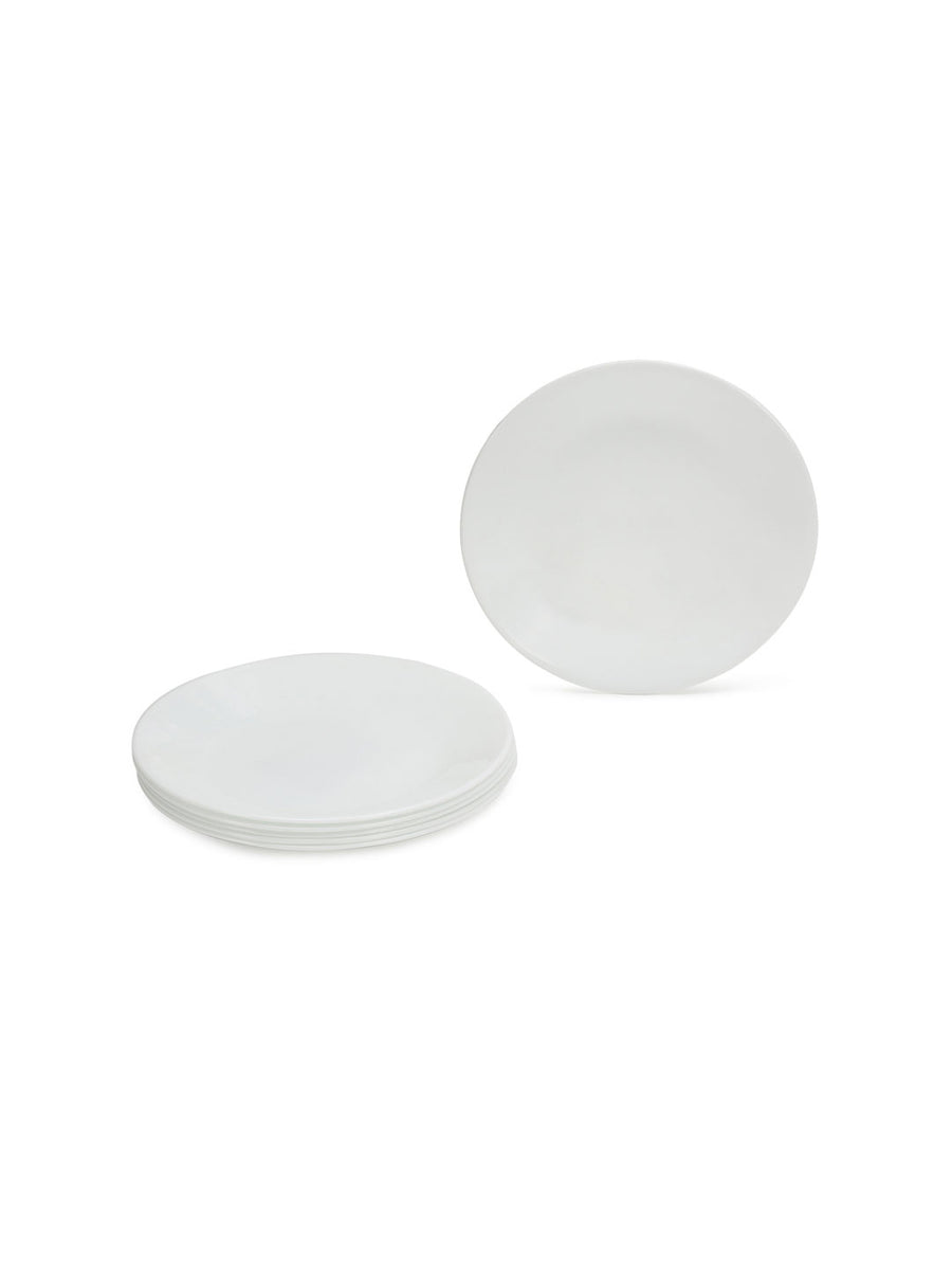Corelle Winter Frost Opalware Small Plate Set of 3 (White)