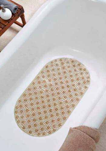 Obsessions Shower Mat Small Cobble-Beige-39X69