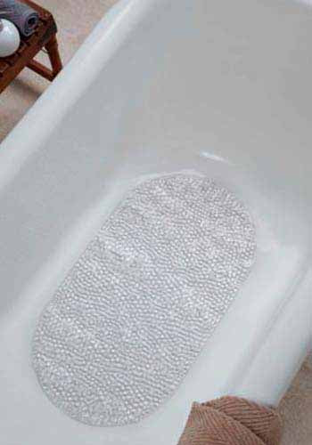 Obsessions Shower Mat Small Cobble-Clear-39X69