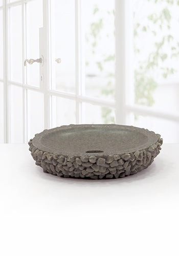 Obsessions Alvina Soap Dish With Hole-2810-Grey