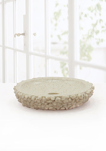Obsessions Alvina Soap Dish With Hole-2812-Cream-