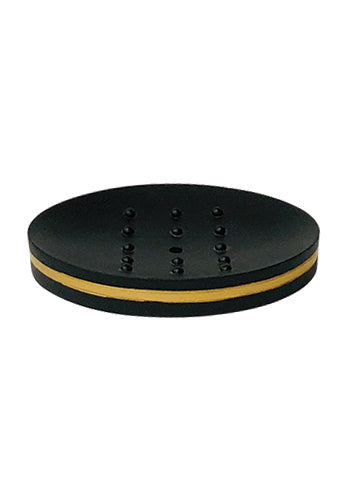 Obsessions Alvina Soap Dish With Hole-Black