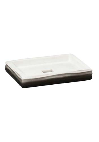 Obsessions Soap Dish Alvina Soap Dish With Hole-Na-820117-Black To White