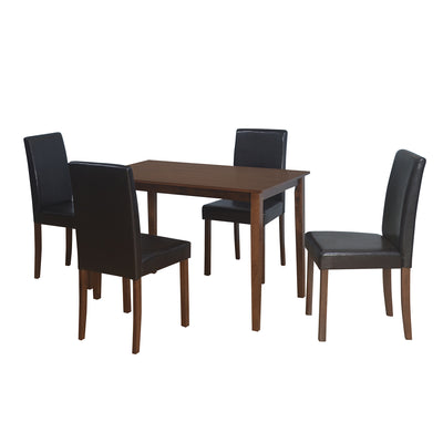 Stella 4 Seater Dining Set (Dark Brown)