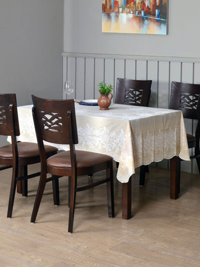 Mist Vinyl 6 Seater Table Cover (Beige)