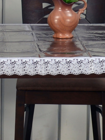Empire with Lace 4 Seater Table Cover (Clear)