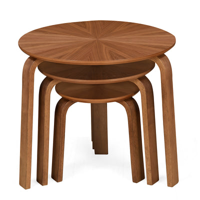 Taksh Nesting Table Set of 3 (Brown)