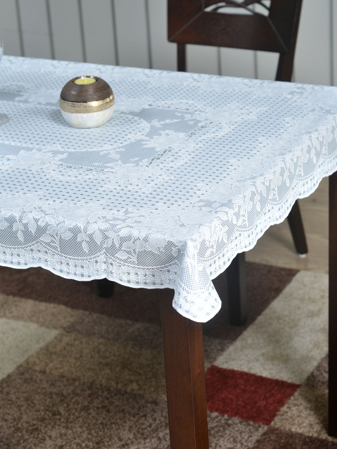 Picture of: Mist 36 Inch X 54 Inch Vinyl 4 Seater Table Cover Grey Nilkamal At Home Home