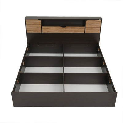 Terence Queen Bed (Wenge/Natural Ebony)