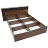 Torrie King Bed With Headboard & Box Storage (Classic Walnut)