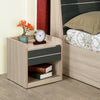 Toya Night Stand (Beige & Brown)