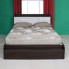 Toya Queen Bed With Box Storage (Oak & Walnut)