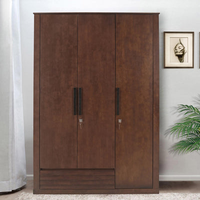 Truman 3 Door Wardrobe (Walnut)