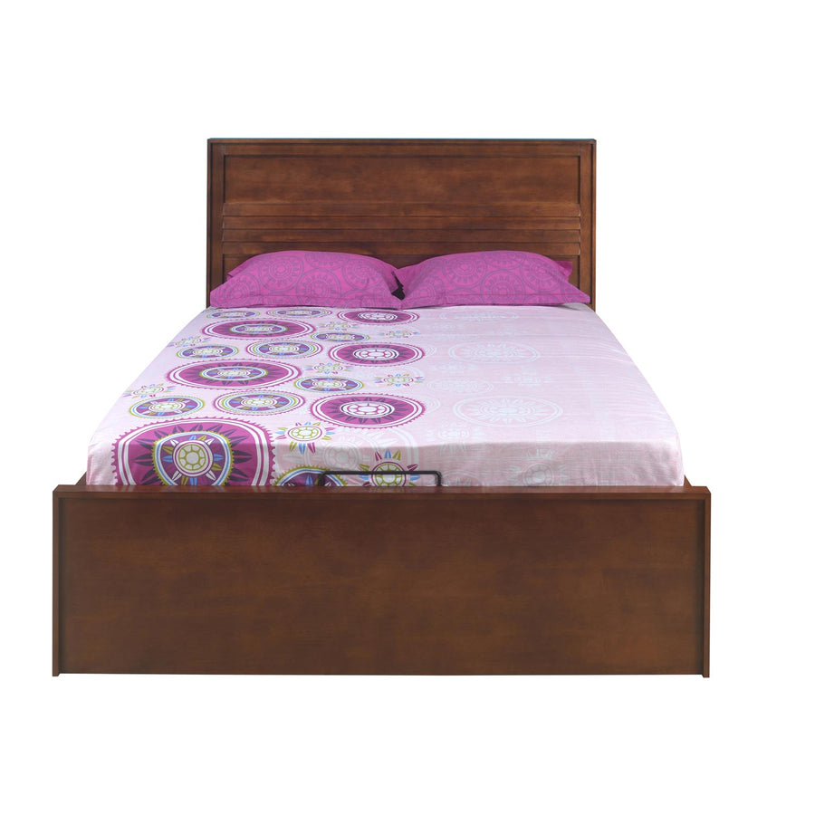 Truman Queen Bed with Hydraulic Storage (Walnut)