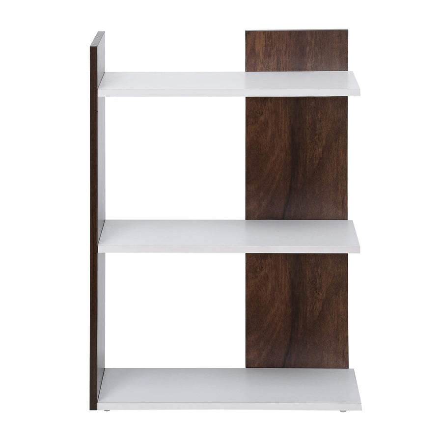 Vellum 3 Tier Bookshelf (Walnut)