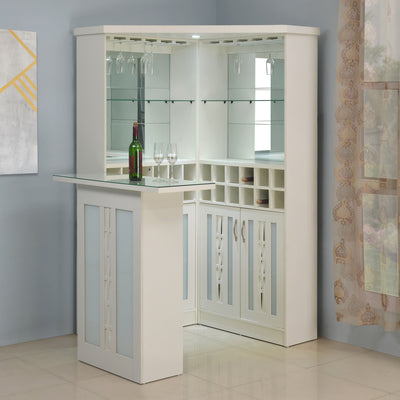 Vento Bar Cabinet with Counter (White)