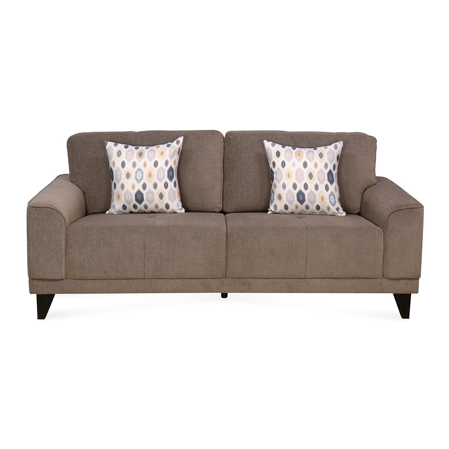 Vibrant 3 Seater Sofa (Brown)